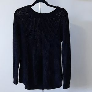 H&M size 6 black scoop neck knitted sweater